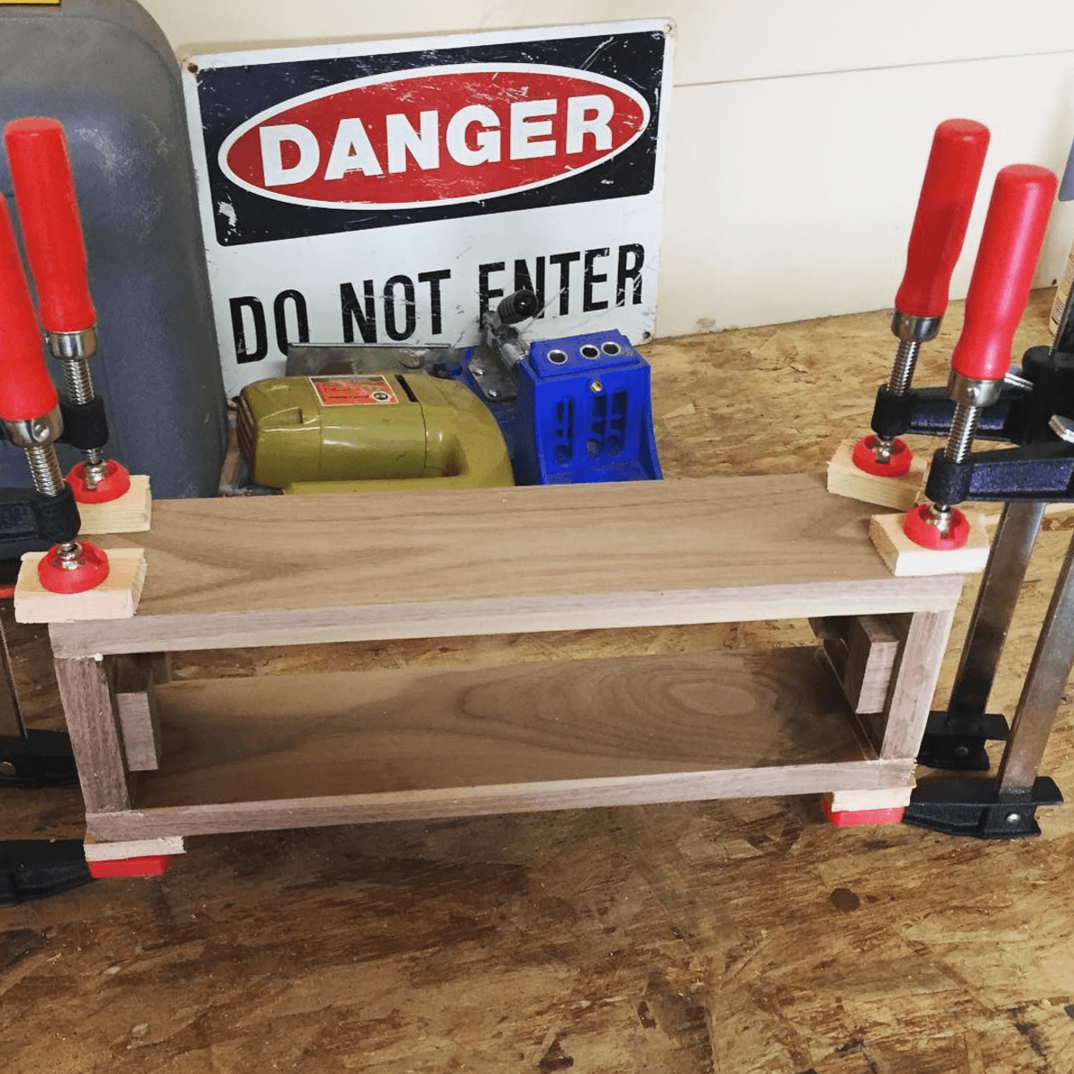 Woodworking glue up box making