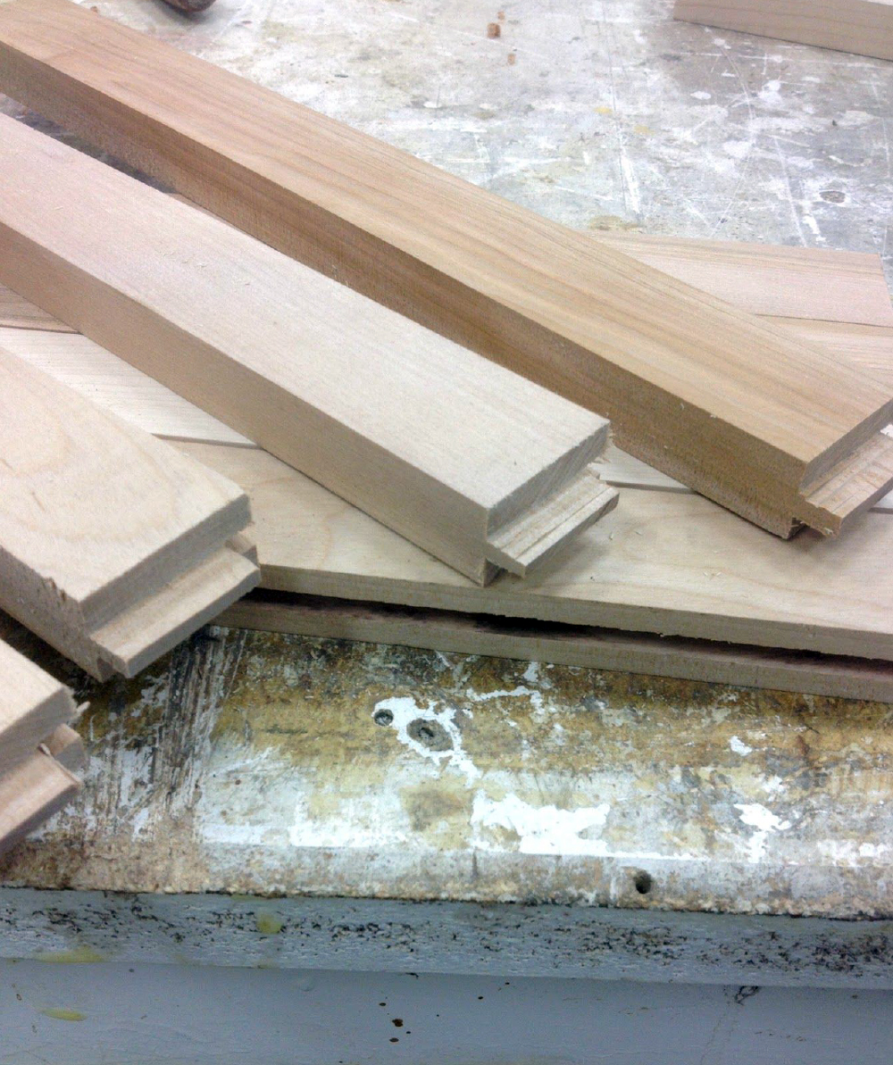 Mortise and tenon joint - entryway bench