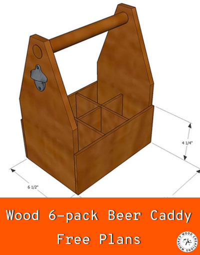 Free beer caddy wood plans